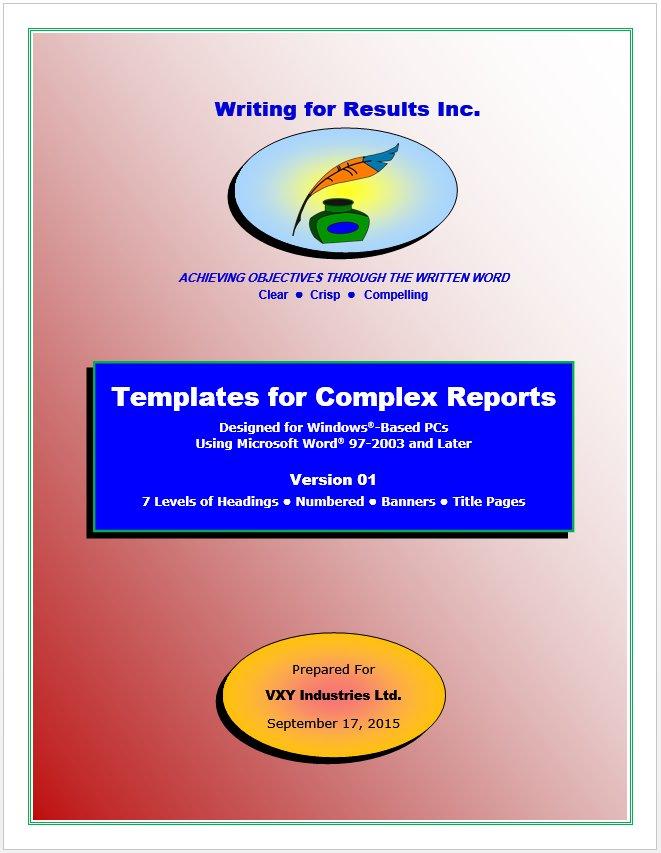 businessballs report writing